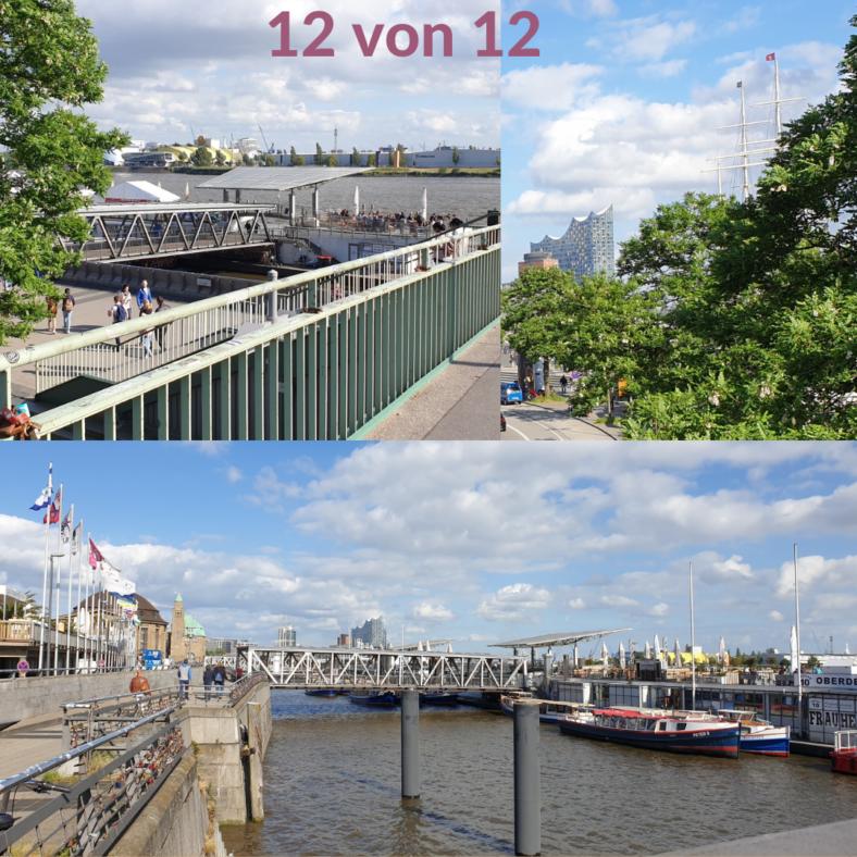 eine Collage aus Hamburger Panoramen