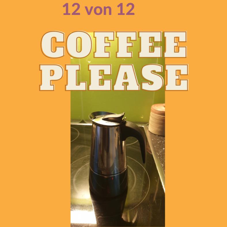 Eine Kaffeemaschine steht auf einer Herdplatte